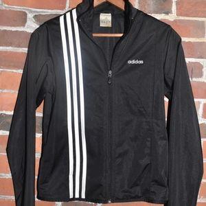 adidas Jackets & Coats - ADIDAS Black White Striped Track Jacket Size S